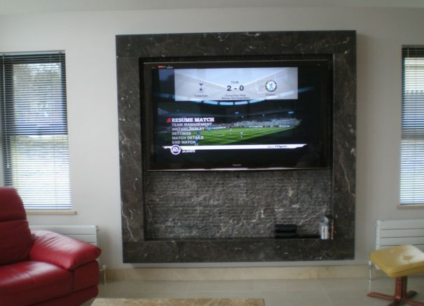 TV Surround - Terra Firma Tile & Bath